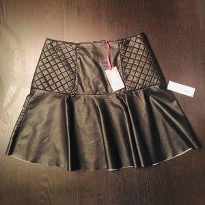 NWT Vegan Leather skirt size 8